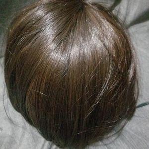 Other - Wig dark brown below chin human hair
